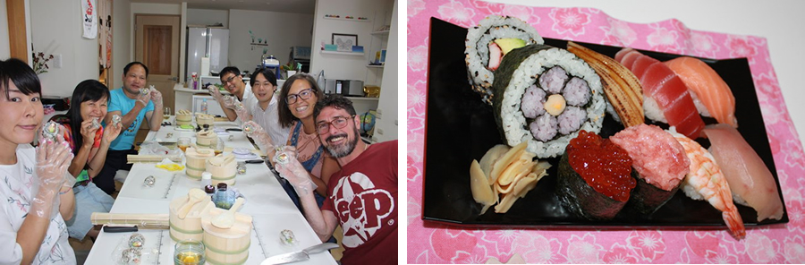 You can make an authentic Japanese sushi !