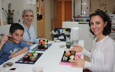 Sushi making lesson in japan