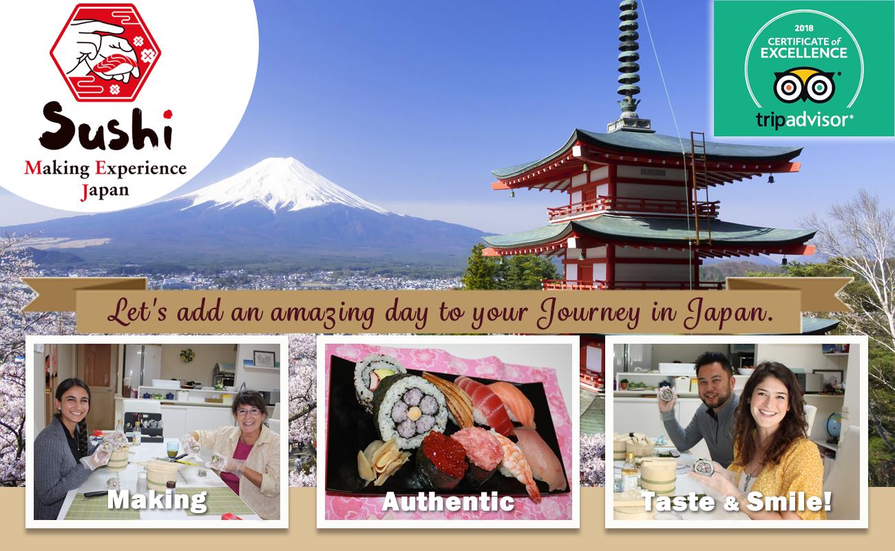 Sushi lesson in japan / Tokyo / Yokohama great experience!